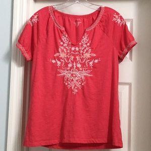 Sonoma top, size medium, red/orange color